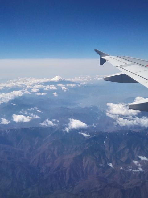 機内 富士山